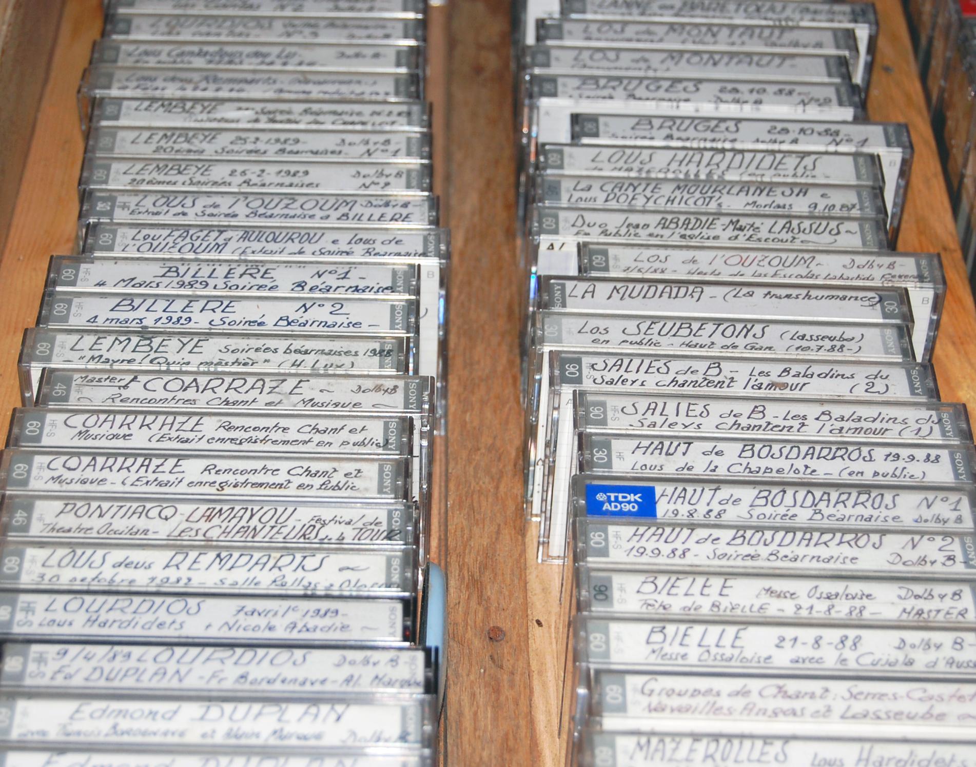 Cassettes anciennes