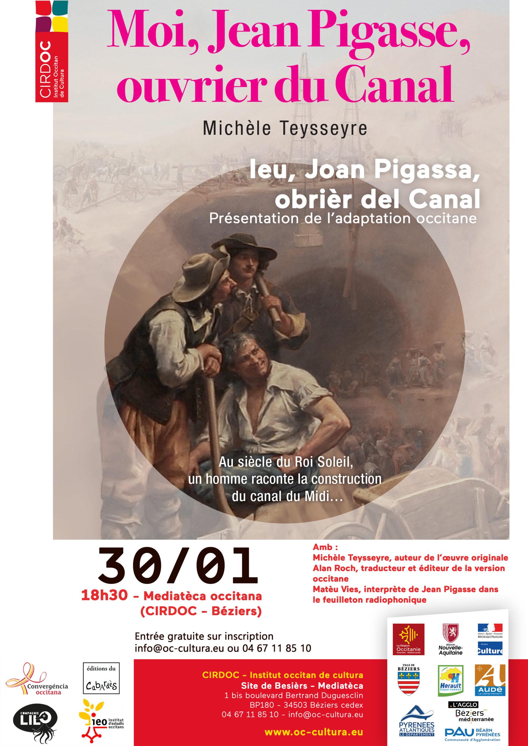 « Moi, Jean Pigasse, ouvrier du Canal » - Soirée de présentation de l'adaptation occitane