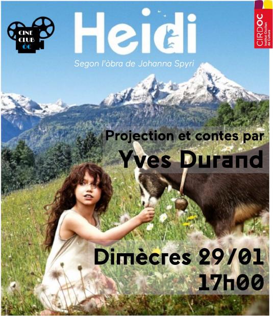 """Heidi"" en occitan et contes avec Yves Durand"