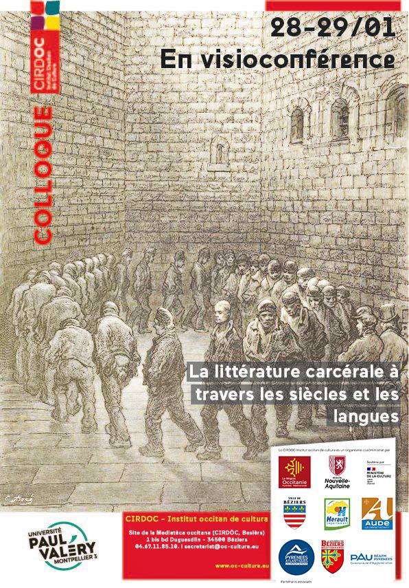 Colloque - « La littérature carcérale à travers les siècles et les langues » - En visioconférence
