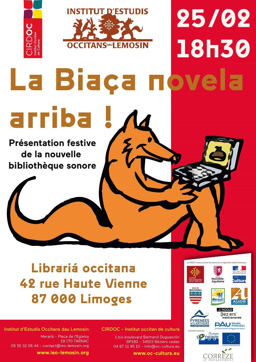 Eveniment : « La Biaça novela arriba ! » - Soirée festive de présentation de la bibliothèque sonore