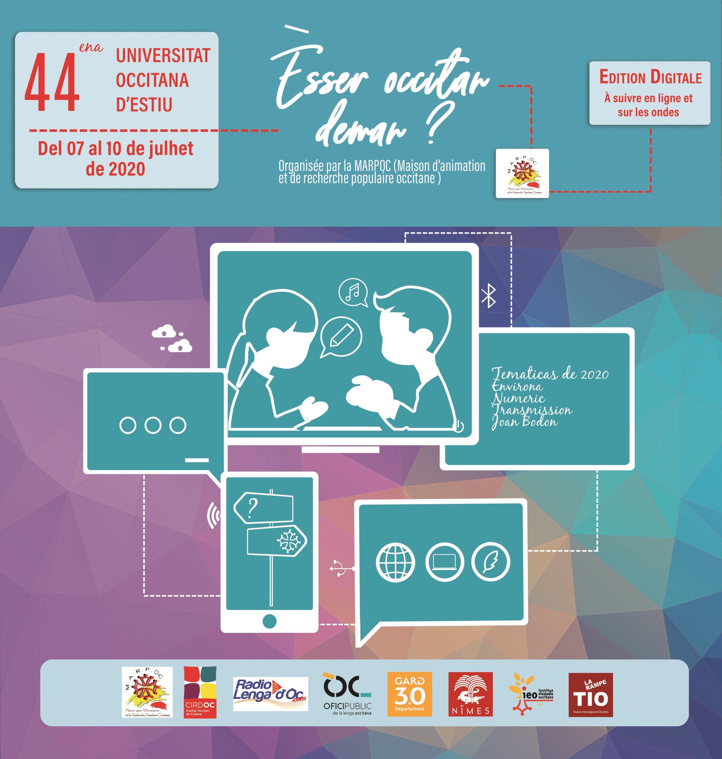 Universitat Occitana d'Estiu - Une édition 2020, numérique et radiophonique