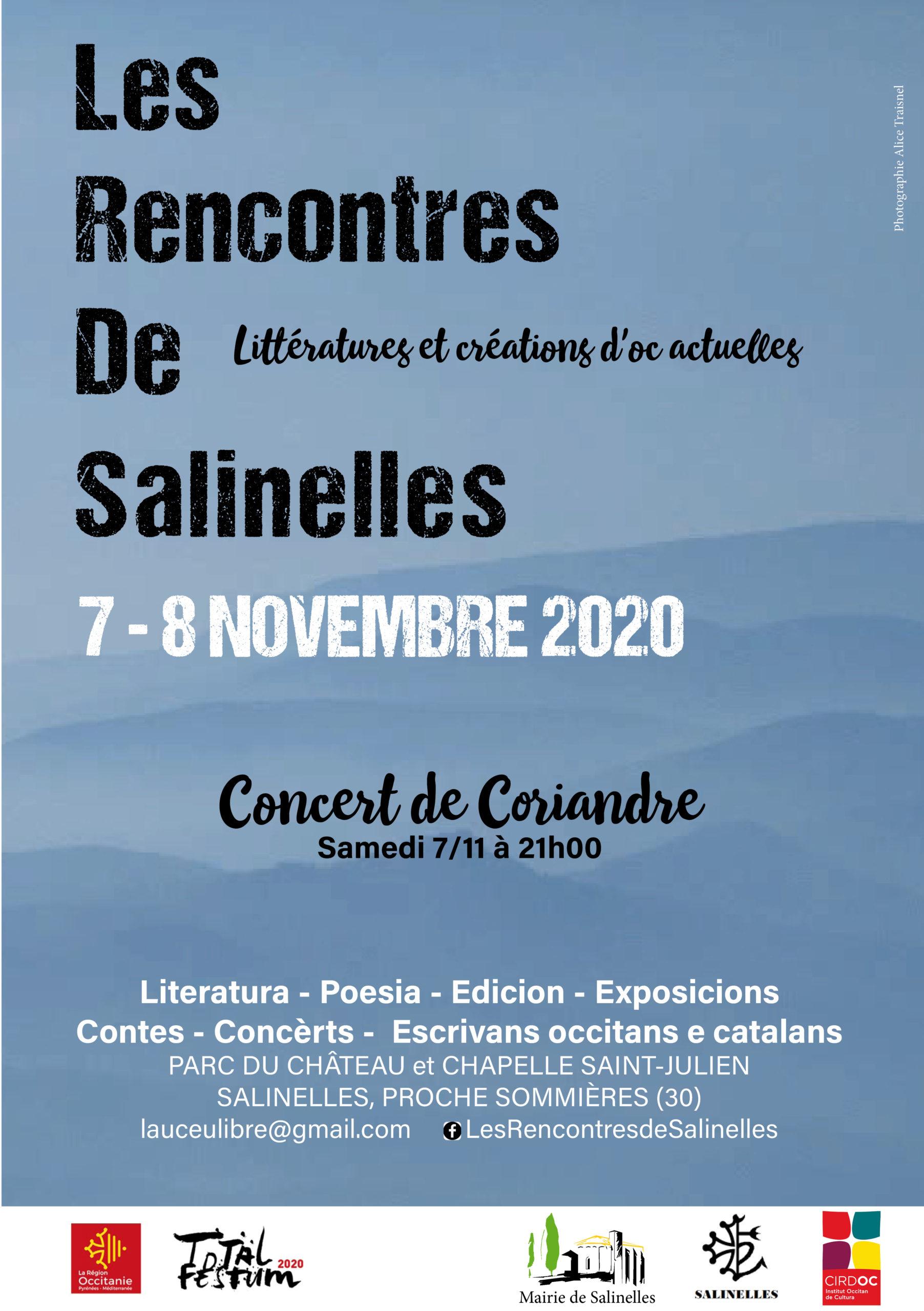 REPORT à 2021 -Les Rencontres de Salinelles 7 et 8/11/2020