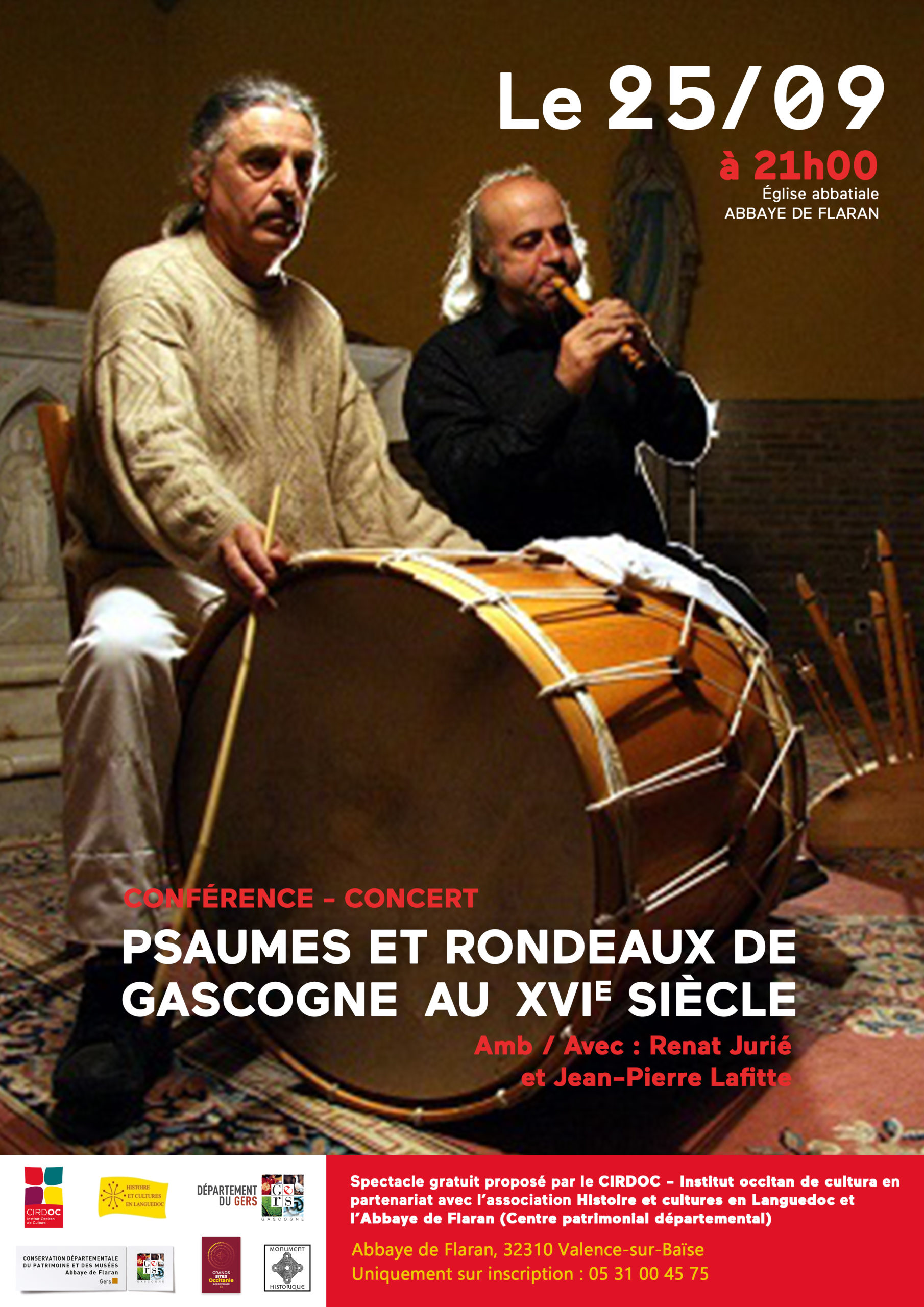 « Psaumes et rondeaux de Gascogne au XVIe siècle » - Concert de Renat Jurié et Jean-Pierre Lafitte
