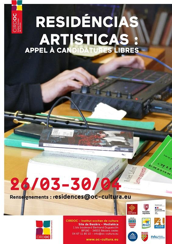Appel à candidature libre - Résidence de création artistique