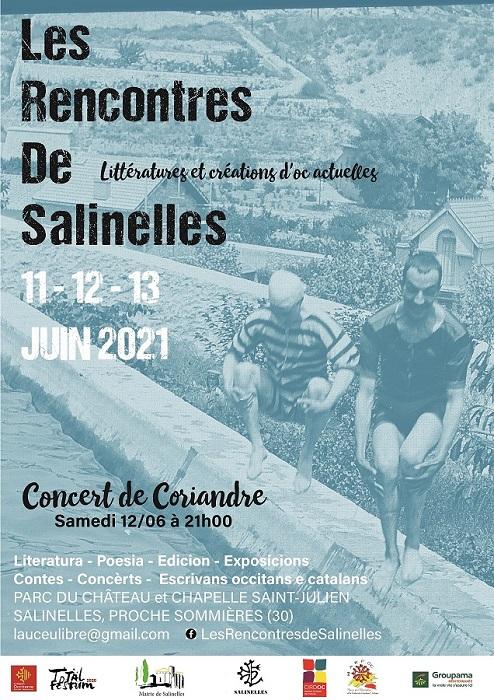 «LesRencontres de Salinelles, littératureset création d'Ocactuelle» - Programa dels 11, 12 e 13/06/2021