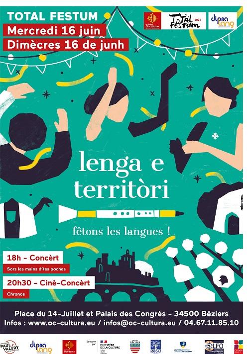 """Total Festum a Besièrs : """"Lenga e territòri"""" - festejam las lengas d'aquí e d'endacòm mai"""