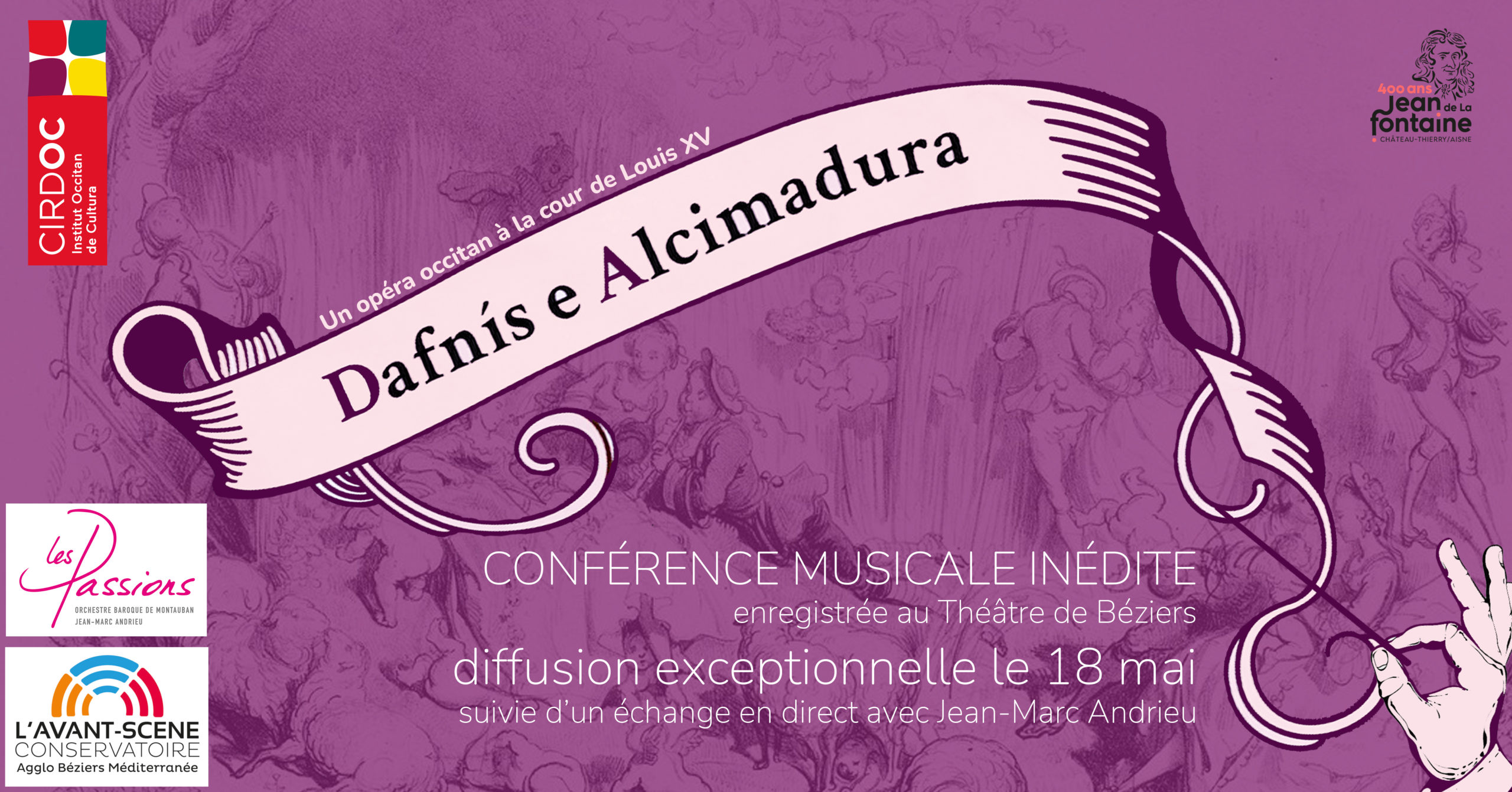 Conférence musicale inédite : à la découverte de l'opéra baroque occitan Daphnis et Alcimadure