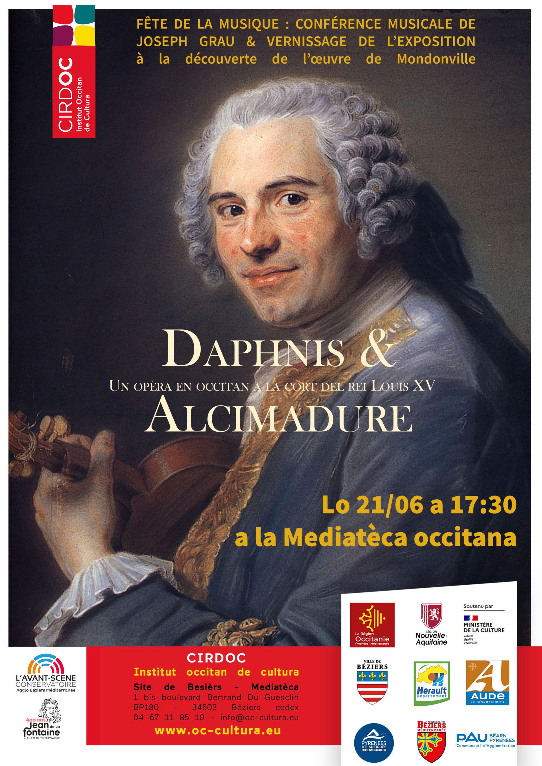 """La Mediatèca fête la musique ! Vernissage de l'exposition """"Daphnis et Alcimadure"""" et conférence musicale de Joseph Grau, enseignant à l'Avant-Scène Conservatoire de l'Agglo Béziers Méditerranée"""