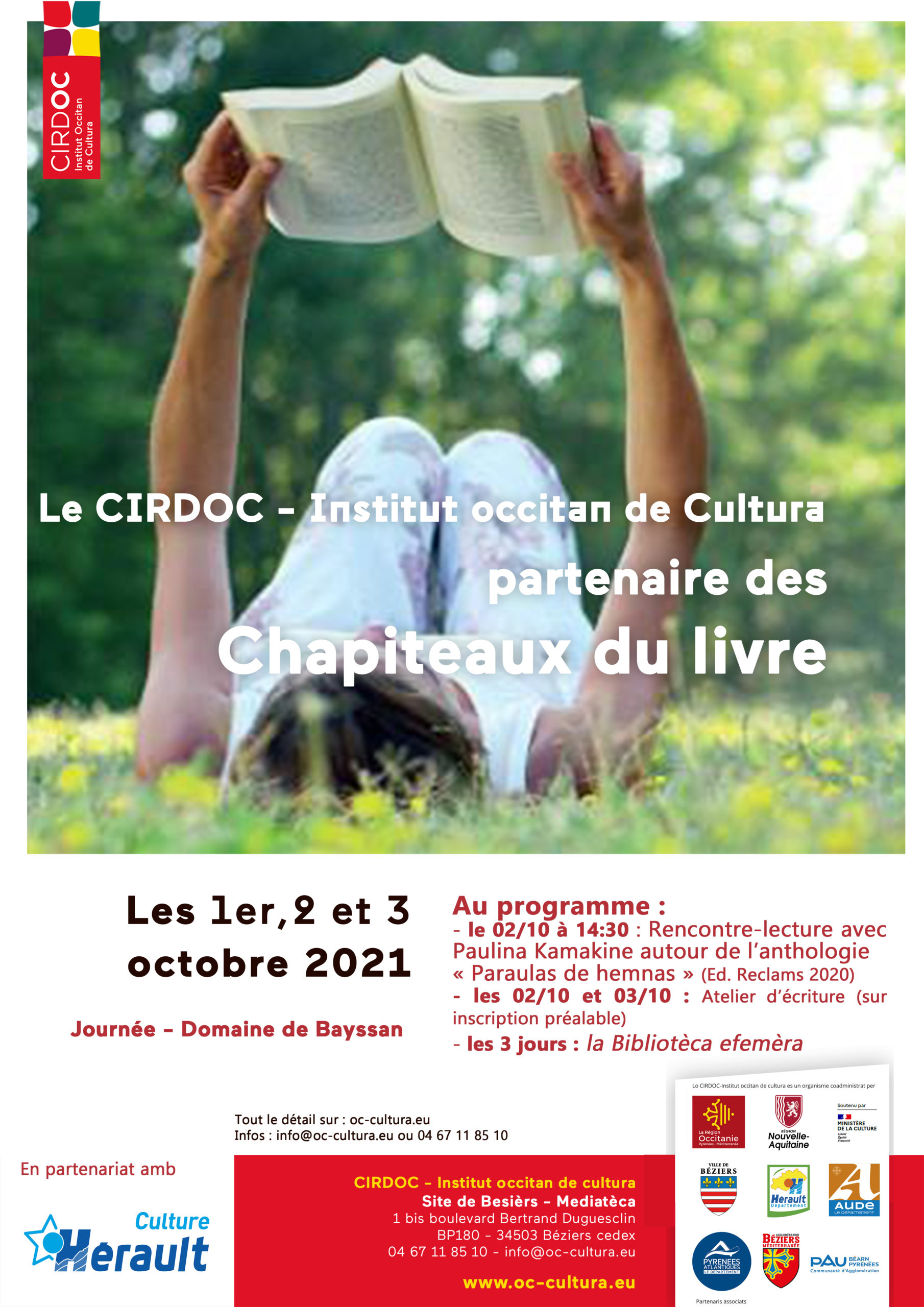 Chapiteaux du livre 2021 - programacion del CIRDÒC-Institut occitan de cultura