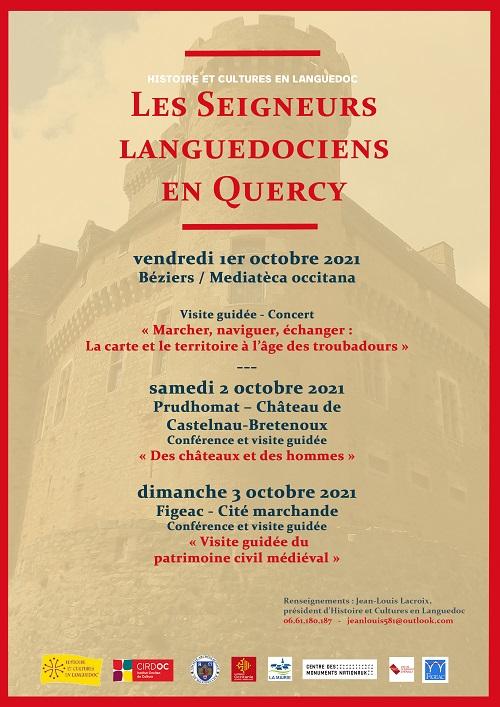 « Les seigneurs languedociens en Quercy » - 14en collòqui HCL 34 - Jornada del 1èr d'octòbre de 2021